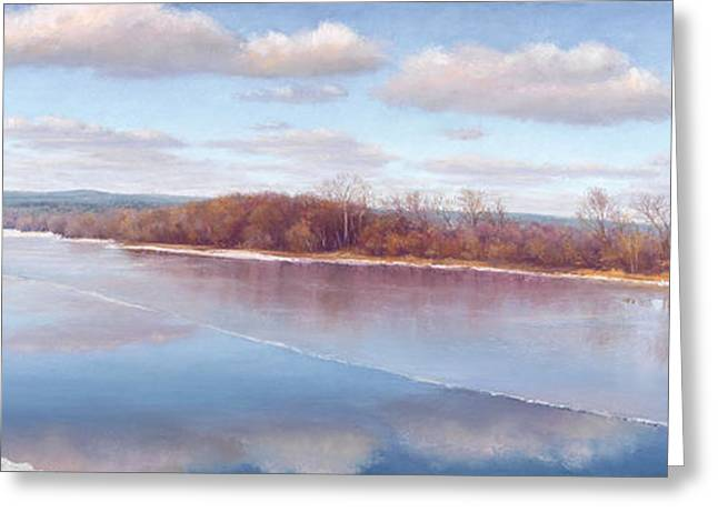 Ice Pastels Greeting Cards - Thin Ice Greeting Card by Christine Labich