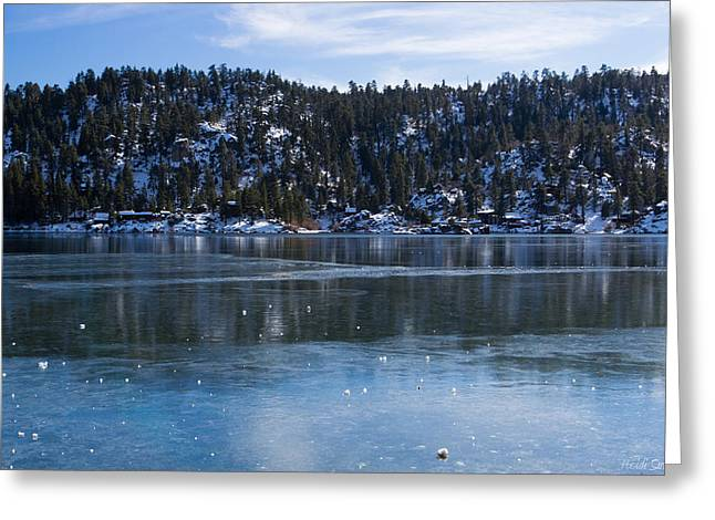 Snow Capped Greeting Cards - Thin Ice Greeting Card by Heidi Smith