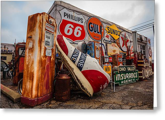 Texaco Sign Greeting Cards - Things Forgoten in Time Greeting Card by Keith Allen