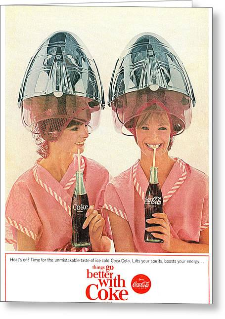 Fizzy Greeting Cards - things go better with Coke Greeting Card by Nomad Art And  Design