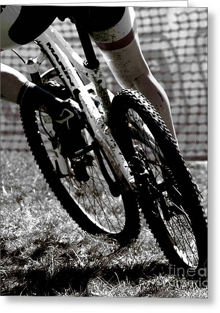 Bicycle Racing Greeting Cards - Things that dirt  Greeting Card by Steven  Digman