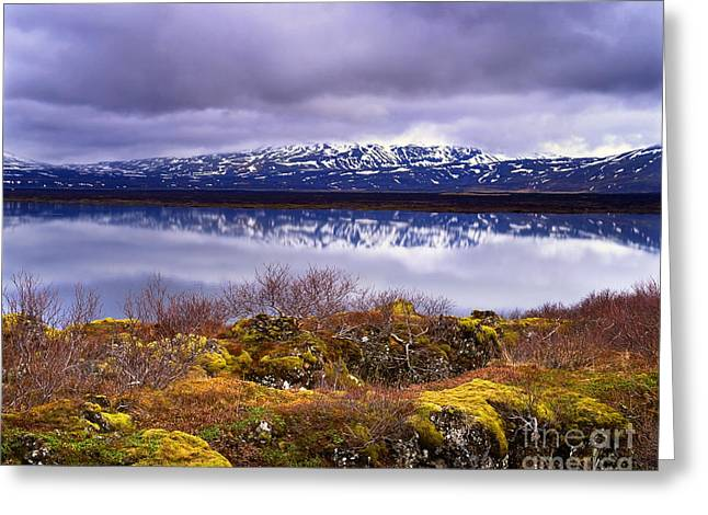 Gathering Greeting Cards - Thingvallavatn Greeting Card by Mark Sunderland