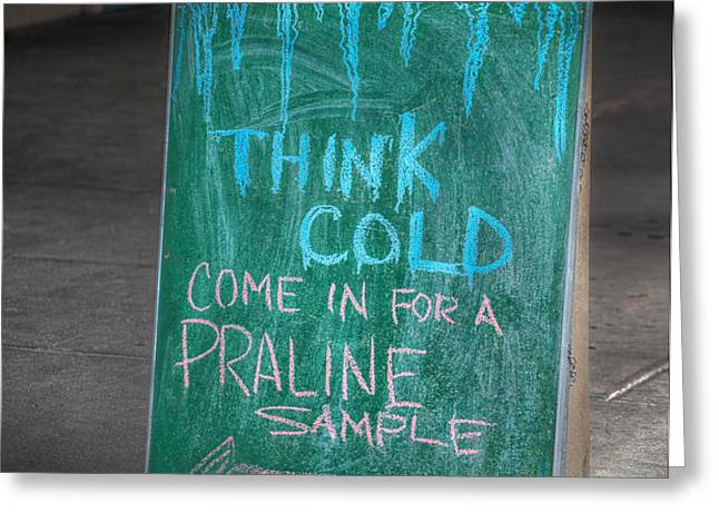 Think Cold Greeting Card by Brenda Bryant