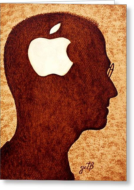 Think Different Tribute To Steve Jobs Greeting Card by Georgeta  Blanaru