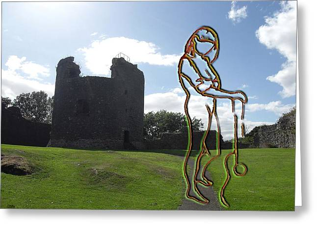 Artcards Greeting Cards - Thinking About The Castle Greeting Card by Patrick J Murphy