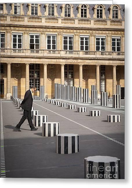 Royal Art Greeting Cards - Thinking - at Palais Royal Greeting Card by Brian Jannsen