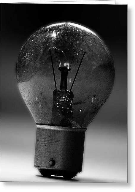 Edison Greeting Cards - Thinking Bulb Greeting Card by Martin Newman
