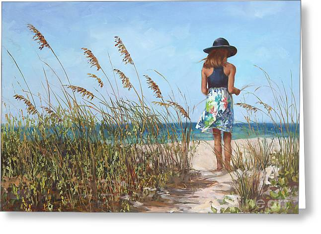 Sea With Waves Greeting Cards - Thinking of You Greeting Card by Laurie Hein
