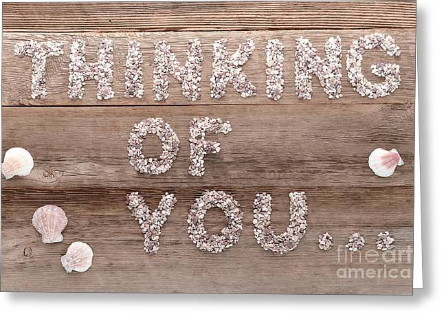 Thinking Greeting Cards - Thinking of You Greeting Card by Olivier Le Queinec