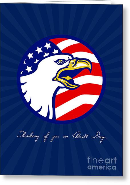 Thinking Of You Greeting Cards - Thinking of You on Patriot Day Card Greeting Card by Aloysius Patrimonio