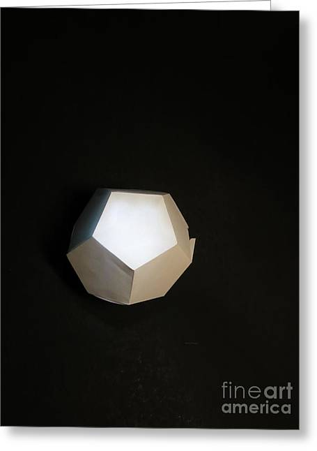 Dodecahedron Greeting Cards - Thinking outside the Greeting Card by Frida Morris