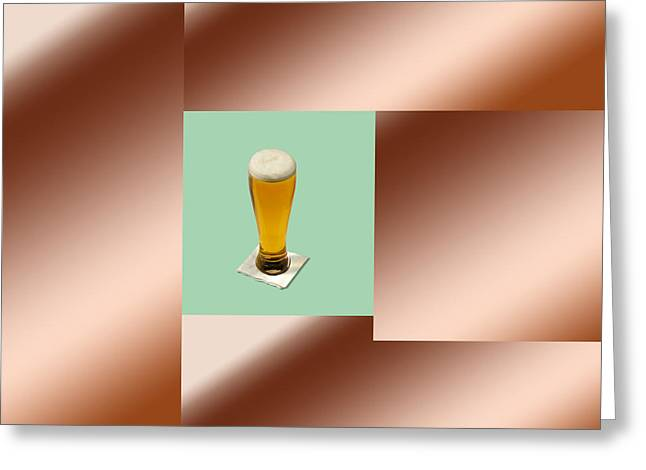 Installation Art Greeting Cards - Third beer on the wall Greeting Card by Tina M Wenger