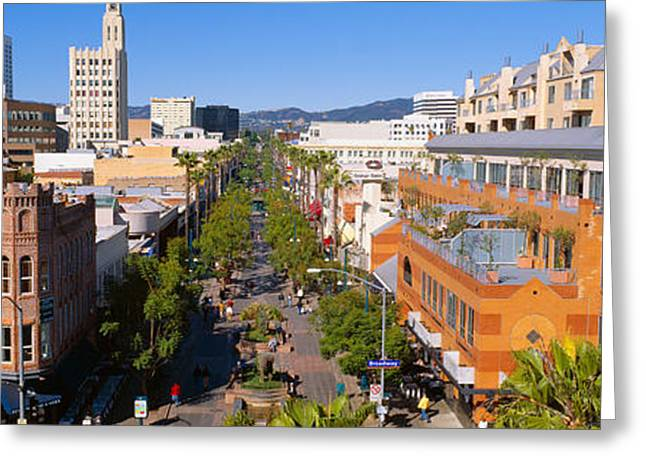 Pastimes Greeting Cards - Third Street Promenade, Santa Monica Greeting Card by Panoramic Images
