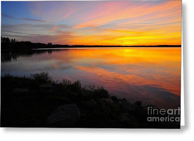 Sun Greeting Cards - Thirty Seconds Before Sunrise Greeting Card by Terri Gostola