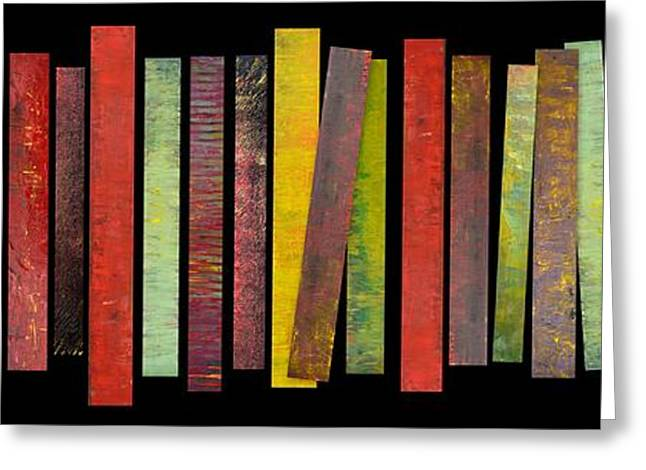 Geometric Art Greeting Cards - Thirty Stripes 1.0 Greeting Card by Michelle Calkins