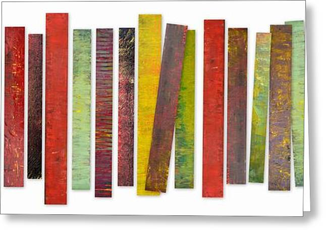 Geometric Art Greeting Cards - Thirty Stripes 2.0 Greeting Card by Michelle Calkins