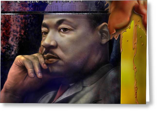 This Cup - The Reality that was King Greeting Card by Reggie Duffie