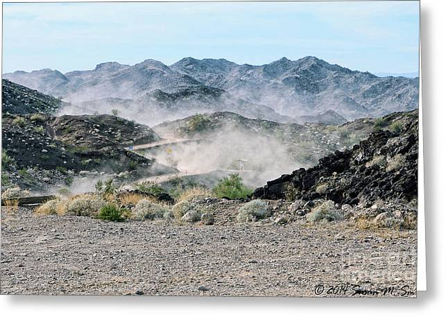 Susan M. Smith Greeting Cards - This Dusty Road Greeting Card by Susan Smith