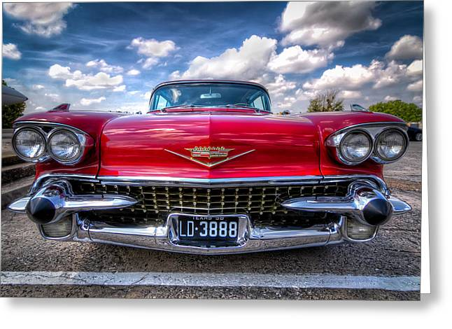 Car Pictures Greeting Cards - This Eldorado is All Business Greeting Card by Tim Stanley