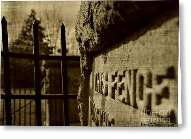 Artowrk Greeting Cards - This Fence Greeting Card by Brian  Seidenfrau