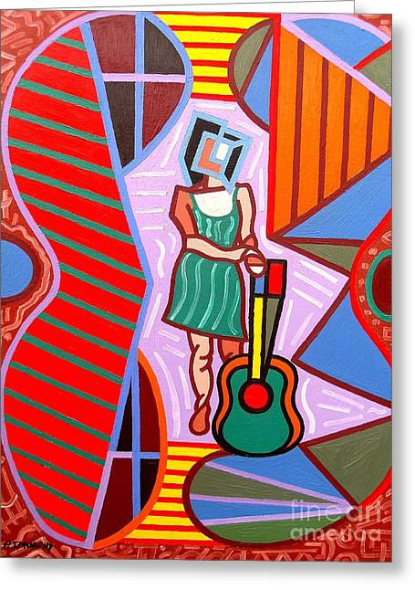 Irish Rock Band Greeting Cards - This Guitar Is More Than An Instrument Greeting Card by Patrick J Murphy