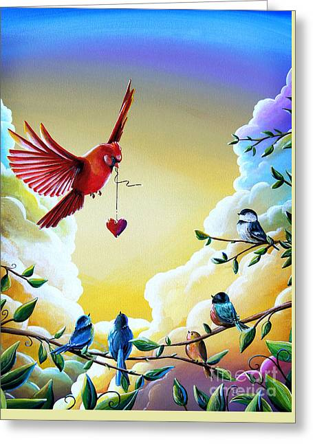 Illustrative Paintings Greeting Cards - This Heart Of Mine Greeting Card by Cindy Thornton