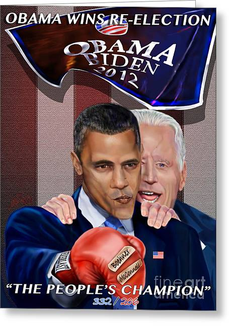 Vice Presidents Greeting Cards - This Is A Big ------- Deal Greeting Card by Reggie Duffie