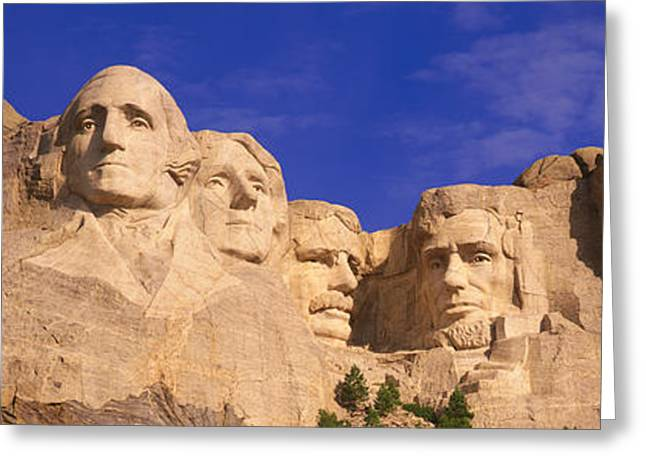 Patriotic Scenes Greeting Cards - This Is A Close Up View Of Mount Greeting Card by Panoramic Images