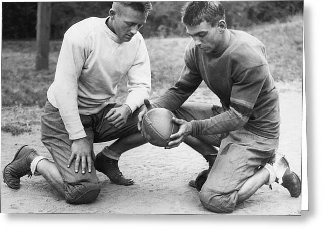 This Is A Football Greeting Card by Underwood Archives