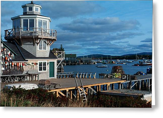 New England Village Greeting Cards - This Is A Lobster Village In New Greeting Card by Panoramic Images
