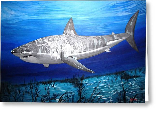 Kevin F Heuman Greeting Cards - This Is A Shark Greeting Card by Kevin F Heuman