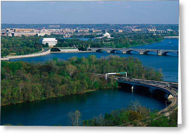 Patriotic Scenes Greeting Cards - This Is An Aerial View Of Washington Greeting Card by Panoramic Images