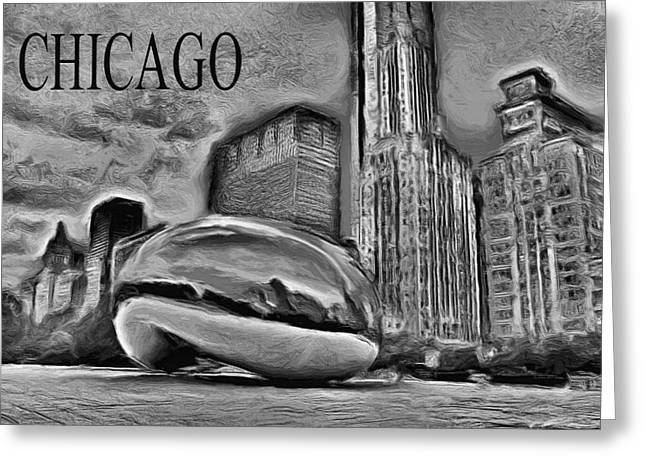 The Bean Greeting Cards - This Is Chicago Greeting Card by Ely Arsha