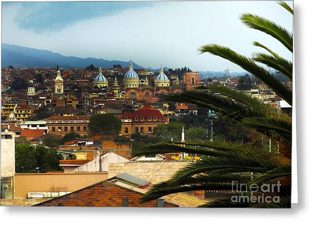 Downtown San Francisco Greeting Cards - This Is Cuenca II Greeting Card by Al Bourassa