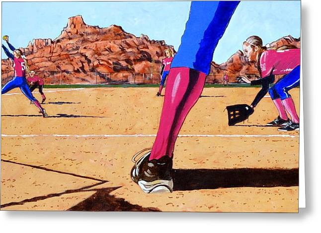 Softball Paintings Greeting Cards - This is How We Roll Greeting Card by Darrell Sheppard