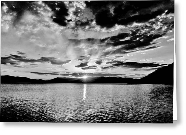 Pnw Greeting Cards - This Is Idaho Black And White Greeting Card by Benjamin Yeager