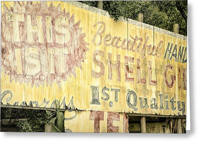 Shell Texture Greeting Cards - This Is IT Greeting Card by Joan Carroll