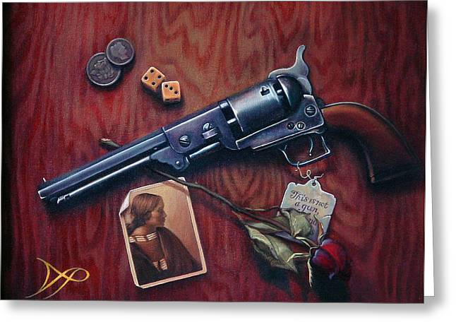Handgun Greeting Cards - This is Not a Gun Greeting Card by Patrick Anthony Pierson