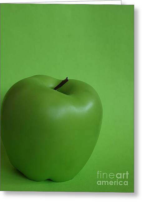 This Is Not An Apple Greeting Card by Stephen Thomas
