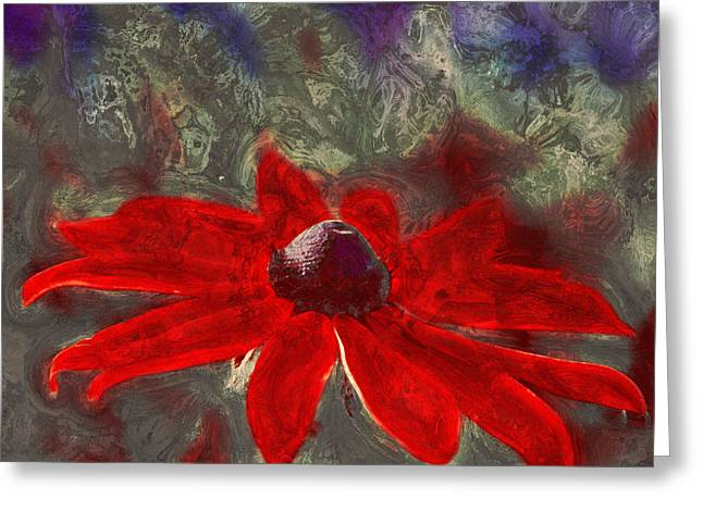 Red Petals Greeting Cards - This is Not Just Another Flower - spr01 Greeting Card by Variance Collections