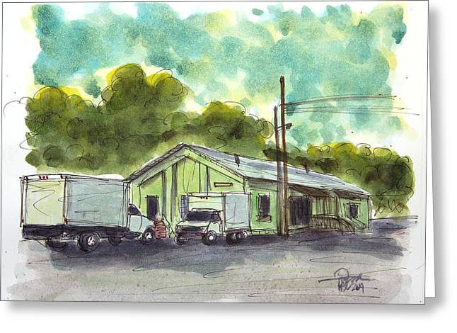 Franklin Tennessee Greeting Cards - This Is PDs Place Greeting Card by Tim Ross