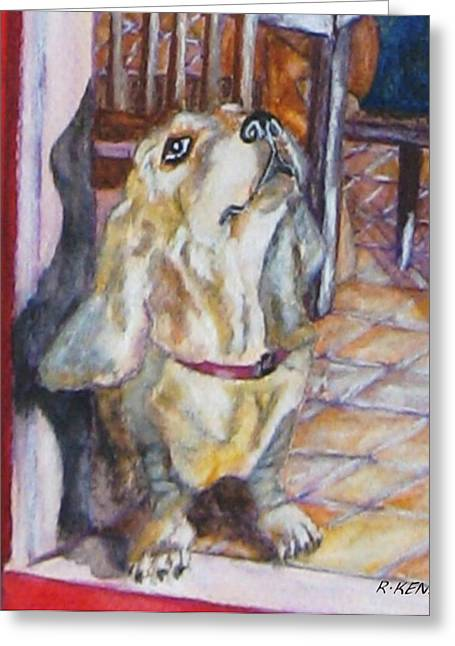 Coller Greeting Cards - this is Sam Greeting Card by Roy Kenen