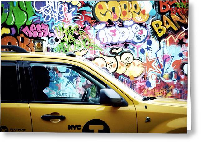 Nyc Graffiti Greeting Cards - This is the city and I am one of the citizens Greeting Card by Natasha Marco