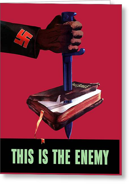 Bible Greeting Cards - This Is The Enemy Greeting Card by War Is Hell Store