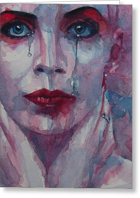 Tears Greeting Cards - This is the Fear This is the Dread  These are the contents of my Head Greeting Card by Paul Lovering