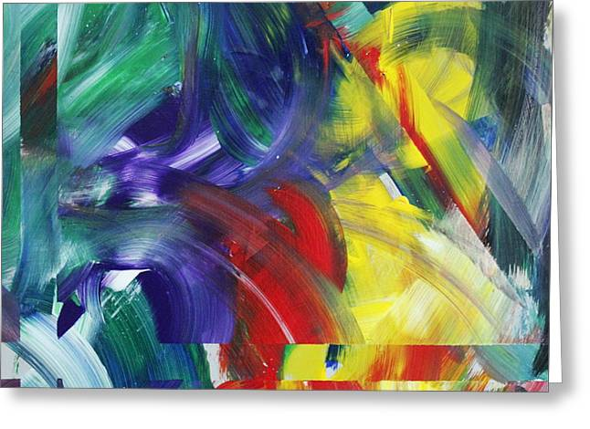 Abstract Expressions Greeting Cards - This is the Place Greeting Card by Richard Day