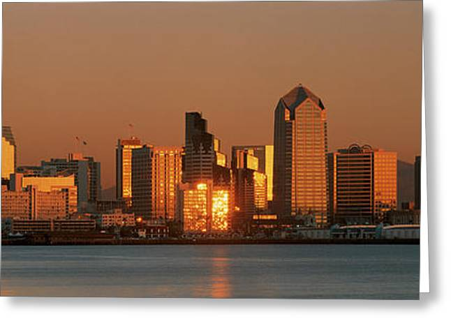 Reflecting Water Greeting Cards - This Is The San Diego Skyline Greeting Card by Panoramic Images