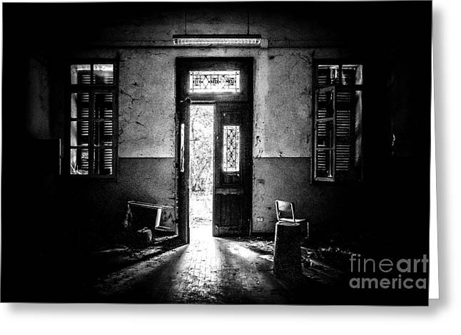 Insanity Greeting Cards - This is the way step inside Greeting Card by Traven Milovich