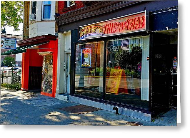 Streetview Greeting Cards - This N That Albany Greeting Card by Mark Victors