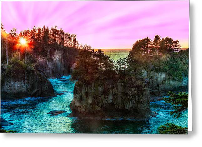 Cape Flattery Greeting Cards - This Oasis Earth Greeting Card by James Heckt